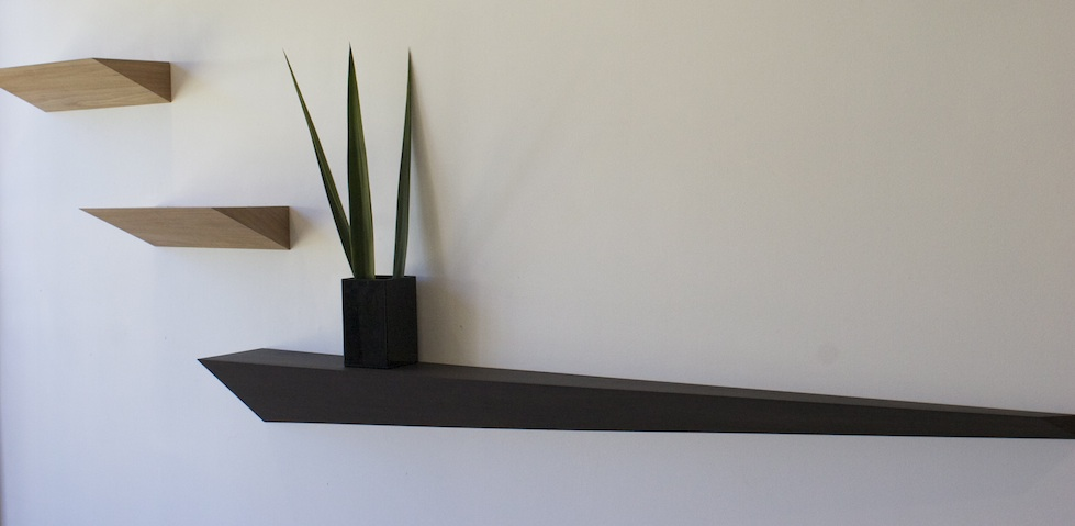 Angled Floating Shelves