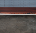 Jarrah slab & stainless steel