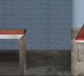 Jarrah slab & stainless steel Dining Table
