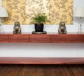 Eveson Jarrah and Stainless steel Hall console jk