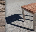 Marri and Stainless Steel Natural Edge Lamp Table 2